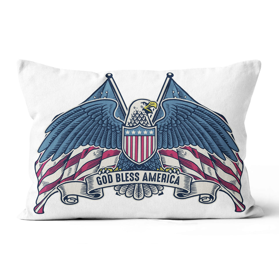 God bless America - Canvas Pillow