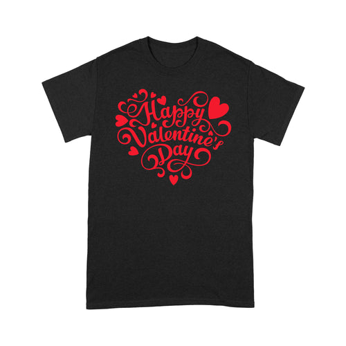 Happy Valentine's Day Standard T-shirt & Tee, 2021 Trending Fashion Cute Lovely T-shirt For Boyfriend & Girlfriend & Mom & Dad