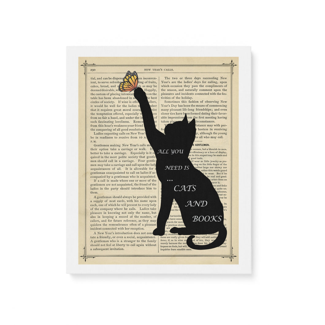 Cats & Books - Matte Canvas (1.25