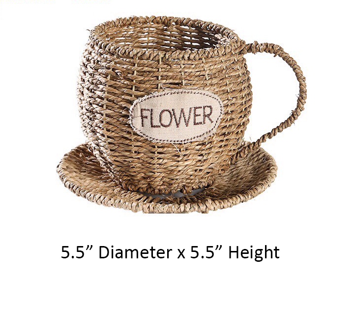 Woven Seagrass Basket | Cup Shape | Rattan - Bamboo Basket | TC017