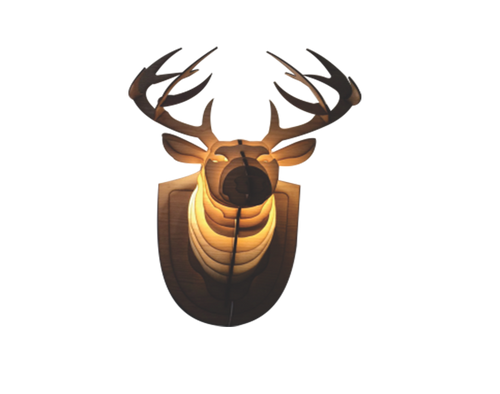 Wooden Lamps - Deer Head