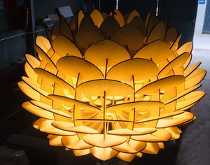 Pinecone Wooden Lamps