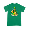 Leprechaun Drink Beer & Smoking  Standard T-shirt, 2021 Trending Saint Patrick's Day Tee Shirt