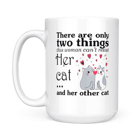 Her Cat & Her Other Cat - White Mug