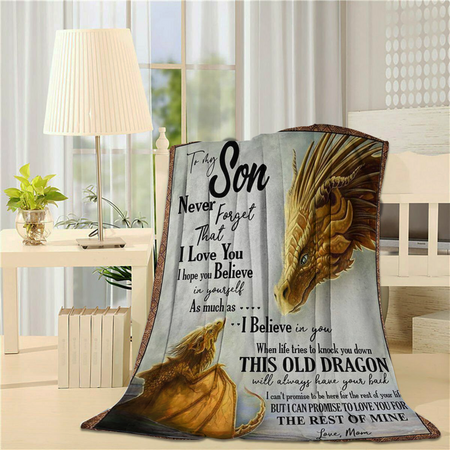To My Son Dragon - Fleece Blanket