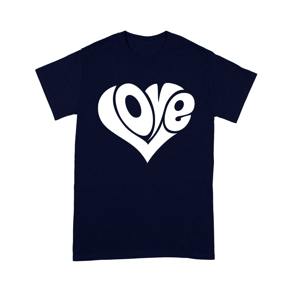 Valentine Love Standard T-shirt & Tee, 2021 Trending Fashion Heart Shaped T-shirt For Valentine Gift