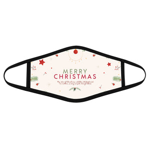 Christmas quotes - Polyblend Face Mask