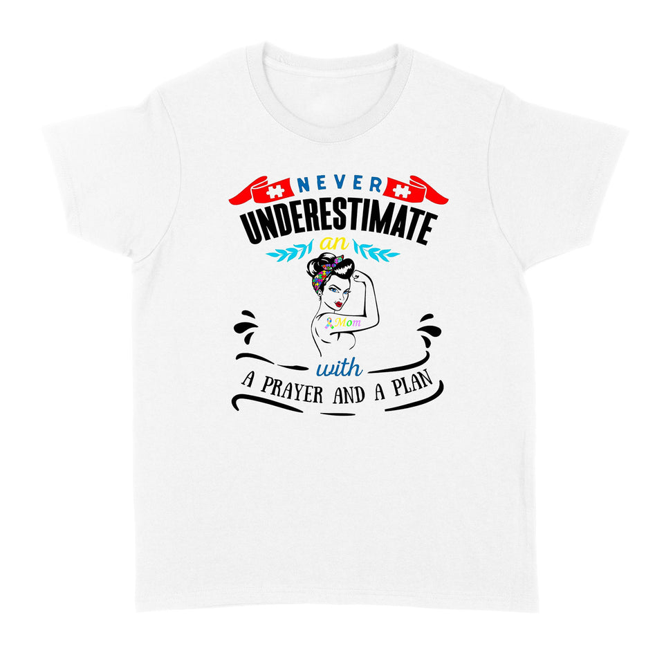 Never Underestimat An Autism Mom - Tees - Standard Women's T-shirt