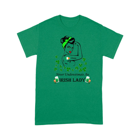 Never Underestimate An Irish Lady - Standard T-shirt