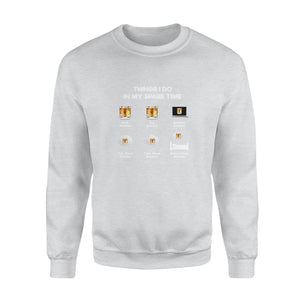 Spare Time With Bourbon - Standard Crew Neck Sweatshirt