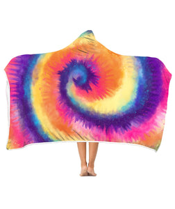 Tie dyed color - Hooded blanket