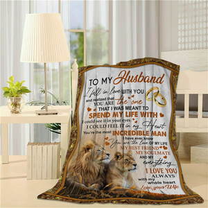To my Husband Lion - Fleece Blanket