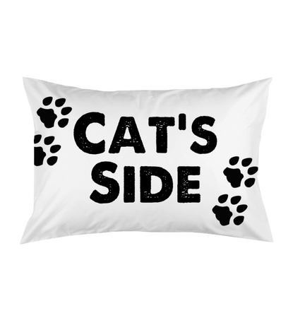 Cat's Side Pillow And Case