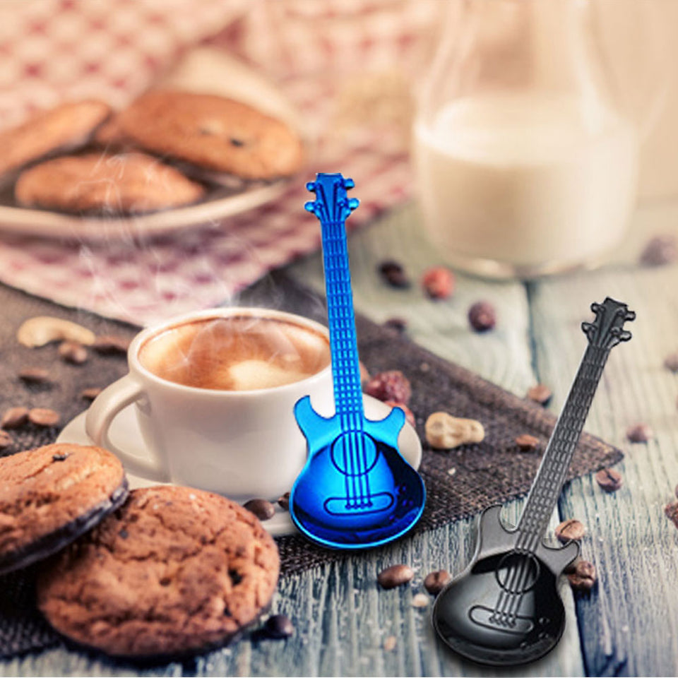 7pcs/ 4pcs Guitar Teaspoon Set