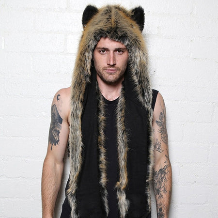 3 In 1 Unisex Fur Hat - Scarf - Gloves