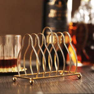 6pc Classical Golden Coaster Plated
