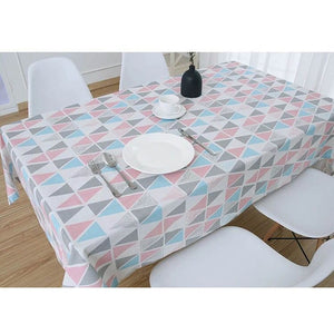 Cotton Linen Table Cloth Rectangular Country Style
