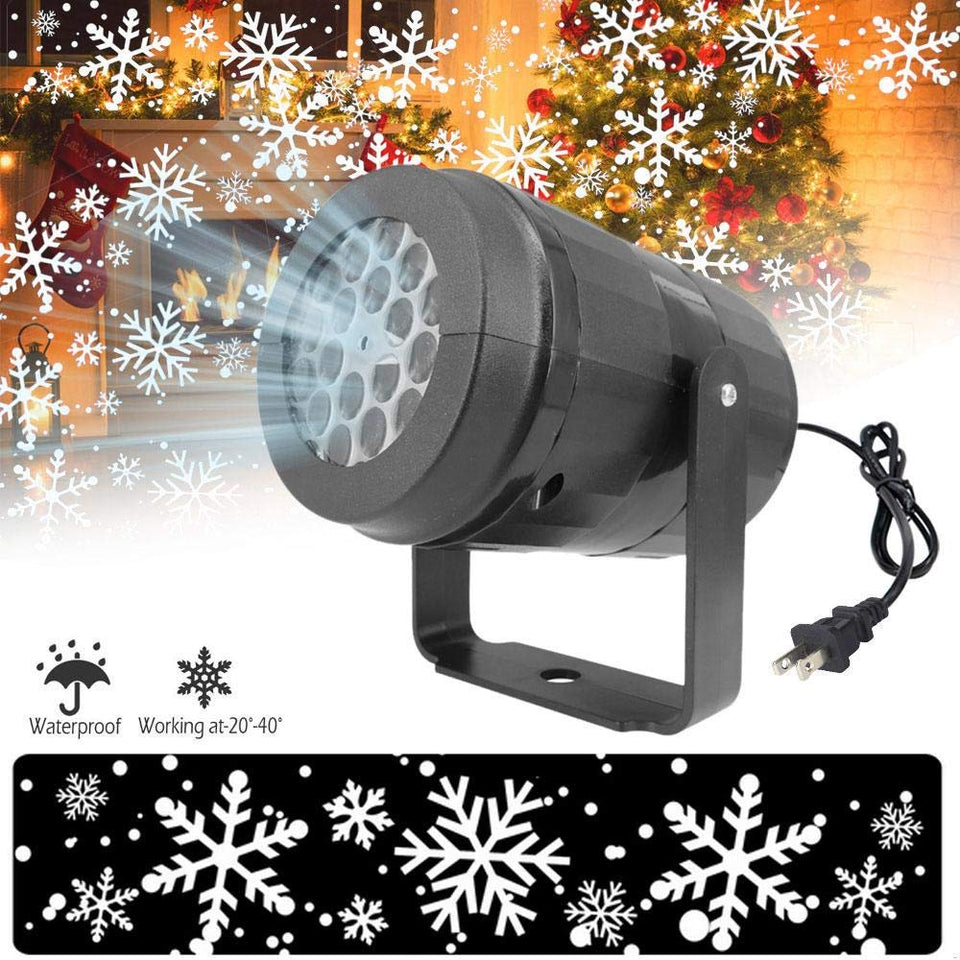 LED snowflake light white snowstorm projector Christmas