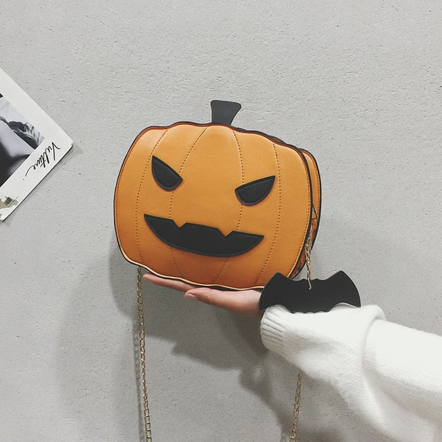 Halloween Pumpkin Shaped Demon Handbag