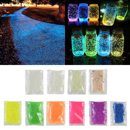 100/300gr Luminous Sand Stone Fluorescent Gravel Glow In Dark