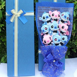 Stitch Cartoon Flower Bouquet Plush Toy (NO BOX)