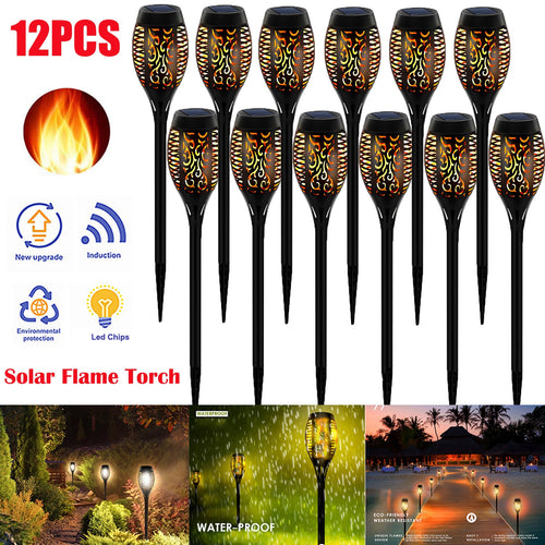 LED Solar Flame Torch Lamp Outdoor Lights