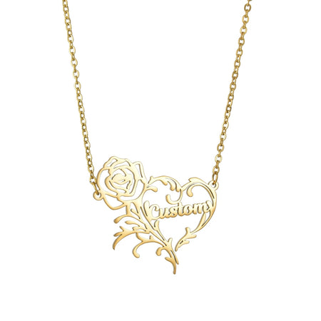 Rose Heart Necklace For Lover