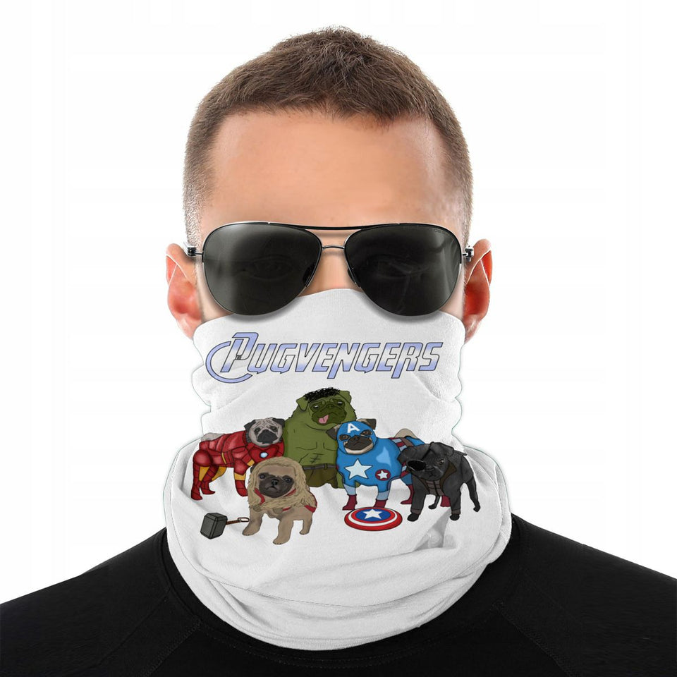 The Pugvengers Pugs Dog Avengers Scarf Neck Face Mask