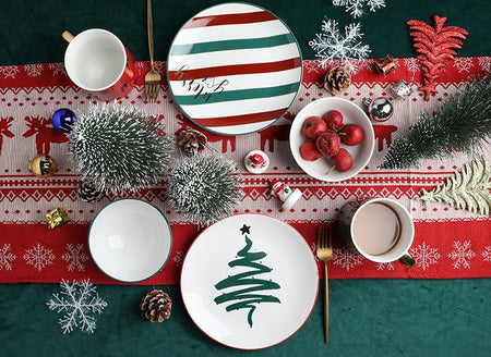 Xmas Plates Ceramic Tableware