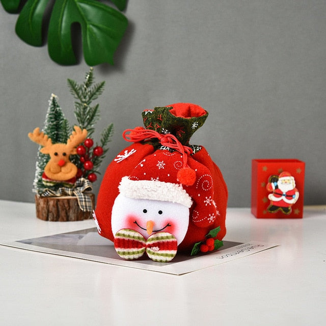 Candy Bag Christmas Home Decorations (x3pcs)