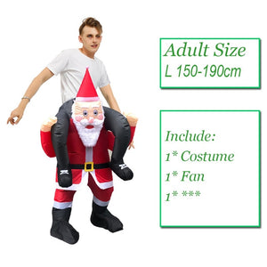 Green Alien Inflatable costume Funny Suit