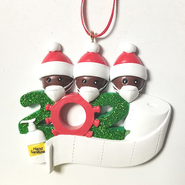 Social Party Distancing Santa Claus with Mask,2020 christmas