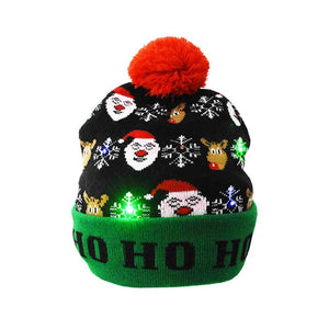 Christmas Sweater Hats With Led