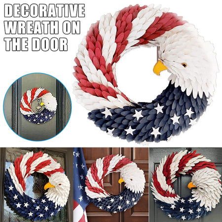 American Eagle Wreath Keep America Great
