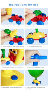 Balloon Launcher Powered Car Toy