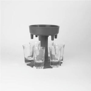 6 Shot Glass Quick Dispenser Holder Carrier Beverage
