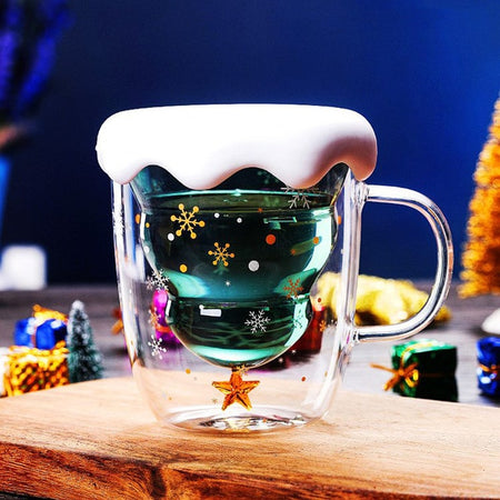 Cute Christmas Tree Star Cup