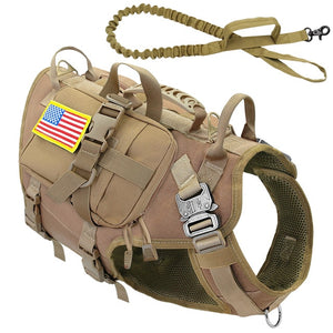 Tactical Dog Harness Military No Pull Pet Harness Vest