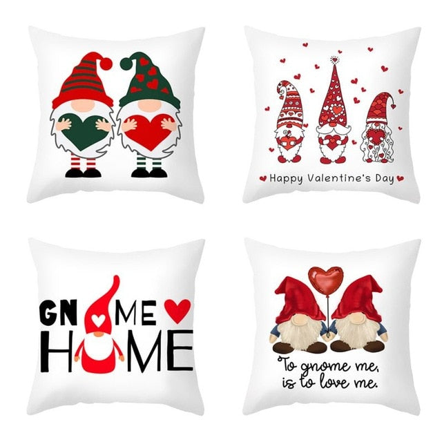4pcs/pack Happy Valentine's Day Pillows Case Decorative