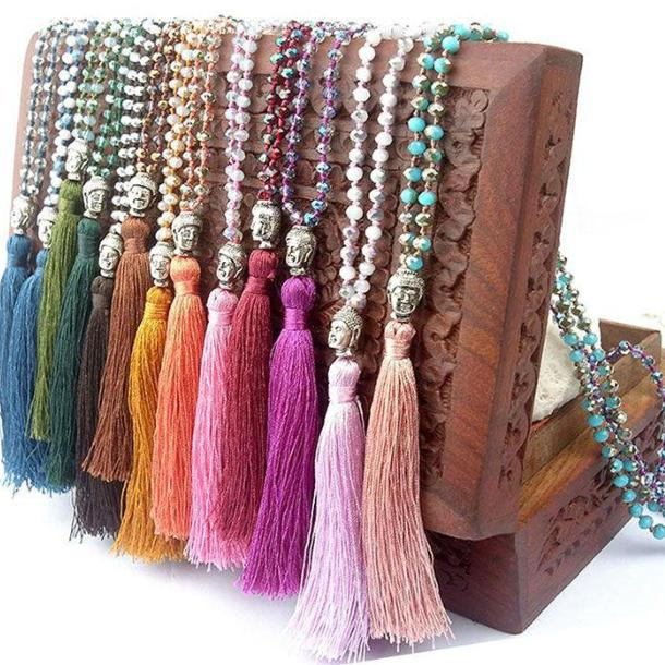 Colorful Buddha Chain Necklace