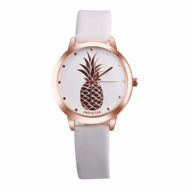 Fruit Simple Leather Watches Women