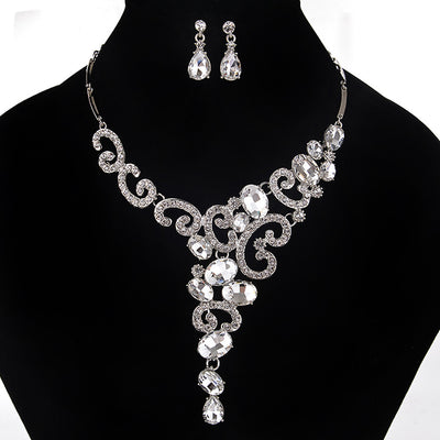 Crystal Chain Necklace Jewelry