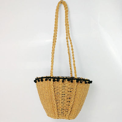Handmade Straw Shoulder Bag