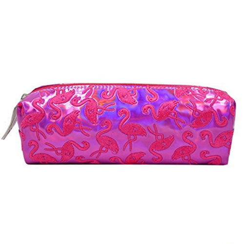 Shiny Laser Flamingo Pencil Case Holographic Cosmetic Bag