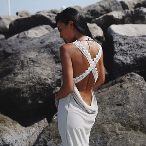 Backless V-neck Lace  Styles Boho