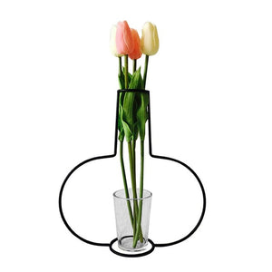 Iron Art Craft Simple Balcony Flower Pot Stand Home Decor Accessories