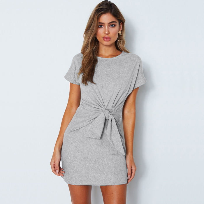Wrap Dress Women Loose Simple Casual