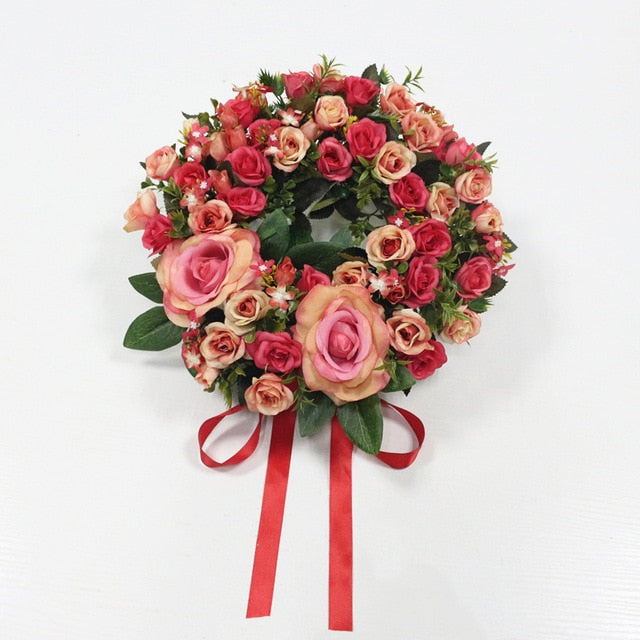 Artificial Simulation Silk Flowers Wreath