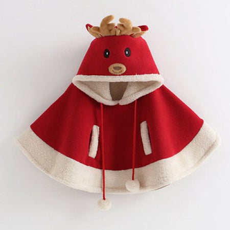 Christmas Kids Hooded Cloak for baby girls and boy