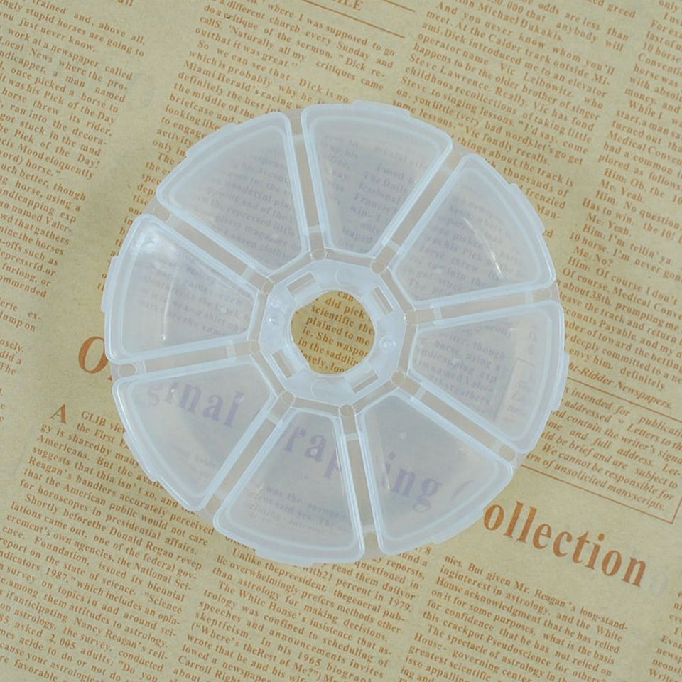 Plastic 10 Slots Art Tools Jewelry Rhinestone Storage Box